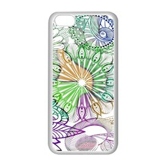 Zentangle Mix 1116c Apple Iphone 5c Seamless Case (white) by MoreColorsinLife