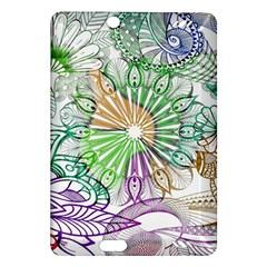 Zentangle Mix 1116c Amazon Kindle Fire Hd (2013) Hardshell Case by MoreColorsinLife