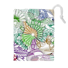 Zentangle Mix 1116c Drawstring Pouches (extra Large) by MoreColorsinLife