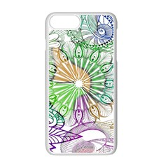 Zentangle Mix 1116c Apple Iphone 7 Plus White Seamless Case by MoreColorsinLife