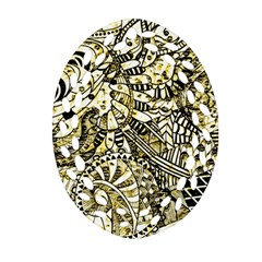 Zentangle Mix 1216a Oval Filigree Ornament (2-Side)  by MoreColorsinLife