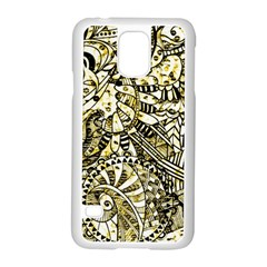 Zentangle Mix 1216a Samsung Galaxy S5 Case (white) by MoreColorsinLife