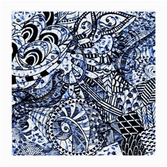 Zentangle Mix 1216b Medium Glasses Cloth by MoreColorsinLife