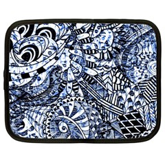 Zentangle Mix 1216b Netbook Case (large) by MoreColorsinLife