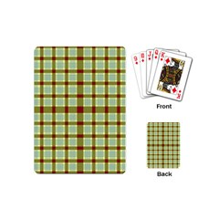 Geometric Tartan Pattern Square Playing Cards (Mini)