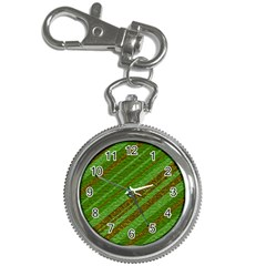 Stripes Course Texture Background Key Chain Watches by Zeze