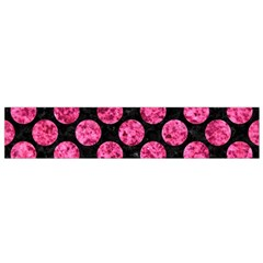 Circles2 Black Marble & Pink Marble Flano Scarf (small) by trendistuff