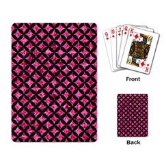 Circles3 Black Marble & Pink Marble (r) Playing Cards Single Design by trendistuff
