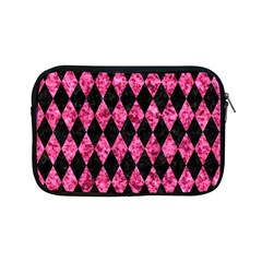 Diamond1 Black Marble & Pink Marble Apple Ipad Mini Zipper Case by trendistuff