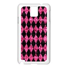 Diamond1 Black Marble & Pink Marble Samsung Galaxy Note 3 N9005 Case (white)