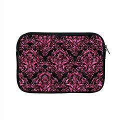 Damask1 Black Marble & Pink Marble Apple Macbook Pro 15  Zipper Case by trendistuff