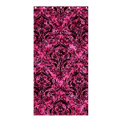 Damask1 Black Marble & Pink Marble (r) Shower Curtain 36  X 72  (stall) by trendistuff
