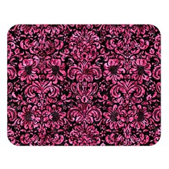 Damask2 Black Marble & Pink Marble Double Sided Flano Blanket (large) by trendistuff