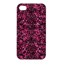 Damask2 Black Marble & Pink Marble (r) Apple Iphone 4/4s Hardshell Case by trendistuff