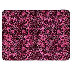 Damask2 Black Marble & Pink Marble (r) Samsung Galaxy Tab 7  P1000 Flip Case by trendistuff