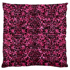 Damask2 Black Marble & Pink Marble (r) Standard Flano Cushion Case (two Sides) by trendistuff