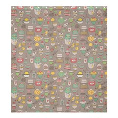 Tea Party Pattern Shower Curtain 66  X 72  (large)  by Mishacat