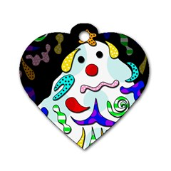 Candy Man` Dog Tag Heart (two Sides) by Valentinaart