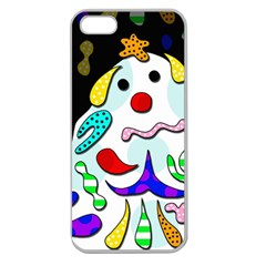 Candy Man` Apple Seamless Iphone 5 Case (clear) by Valentinaart