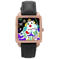 Candy Man` Rose Gold Leather Watch  by Valentinaart
