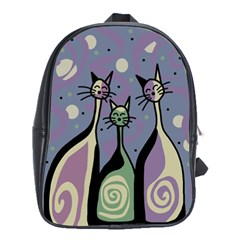 Cats School Bags (xl)  by Valentinaart