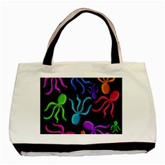 Colorful Octopuses Pattern Basic Tote Bag (two Sides) by Valentinaart