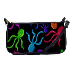 Colorful Octopuses Pattern Shoulder Clutch Bags by Valentinaart