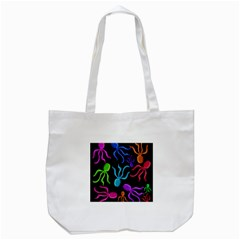 Colorful Octopuses Pattern Tote Bag (white) by Valentinaart
