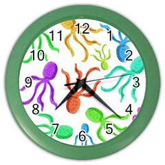 Octopuses Pattern Color Wall Clocks