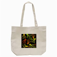 Octopuses Pattern 2 Tote Bag (cream) by Valentinaart