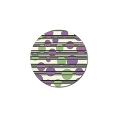 Purple And Green Elegant Pattern Golf Ball Marker (4 Pack) by Valentinaart