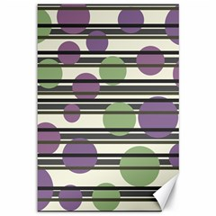 Purple And Green Elegant Pattern Canvas 12  X 18