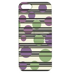 Purple And Green Elegant Pattern Apple Iphone 5 Hardshell Case With Stand by Valentinaart