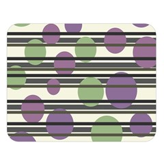 Purple And Green Elegant Pattern Double Sided Flano Blanket (large)  by Valentinaart