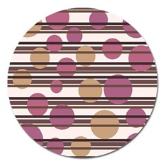Simple Decorative Pattern Magnet 5  (round) by Valentinaart