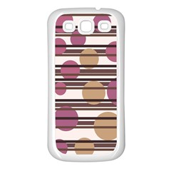 Simple Decorative Pattern Samsung Galaxy S3 Back Case (white) by Valentinaart
