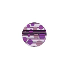 Purple Simple Pattern 1  Mini Buttons by Valentinaart