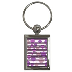 Purple Simple Pattern Key Chains (rectangle)  by Valentinaart