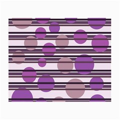 Purple Simple Pattern Small Glasses Cloth by Valentinaart
