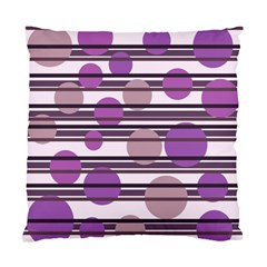 Purple Simple Pattern Standard Cushion Case (two Sides) by Valentinaart