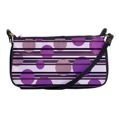 Purple Simple Pattern Shoulder Clutch Bags by Valentinaart