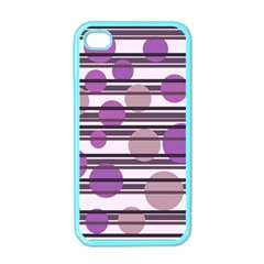 Purple Simple Pattern Apple Iphone 4 Case (color) by Valentinaart