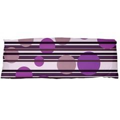 Purple Simple Pattern Body Pillow Case Dakimakura (two Sides) by Valentinaart
