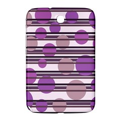 Purple Simple Pattern Samsung Galaxy Note 8 0 N5100 Hardshell Case  by Valentinaart