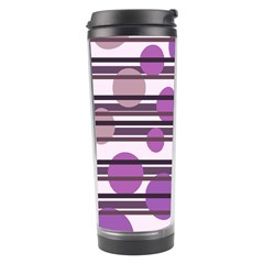 Purple Simple Pattern Travel Tumbler by Valentinaart
