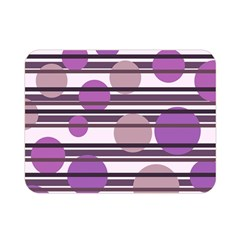 Purple Simple Pattern Double Sided Flano Blanket (mini)  by Valentinaart