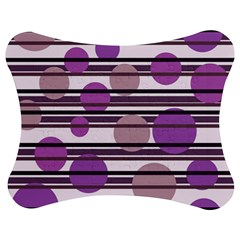 Purple Simple Pattern Jigsaw Puzzle Photo Stand (bow) by Valentinaart
