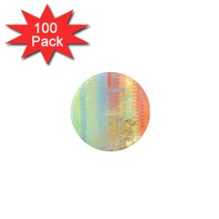 Unique abstract in green, blue, orange, gold 1  Mini Magnets (100 pack)