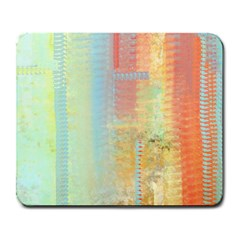 Unique Abstract In Green, Blue, Orange, Gold Large Mousepads by theunrulyartist