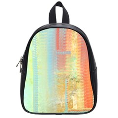 Unique Abstract In Green, Blue, Orange, Gold School Bags (small)  by theunrulyartist
